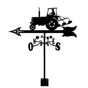 ZOSUO Girouette de Tracteur en Métal Acier Inoxydable avec Fixation sur Le Toit Indicateur de Direction du Vent Décorations de Jardin pour Extérieur Ferme Cour Outil de Mesure
