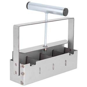 Annadue Outil de Blocage de Sol Manuel à 4 grilles, Outils de Fabrication de Blocs de Sol pour semis de palettes, pour éliminer Les déchets et Le Choc de Transplantation de semis