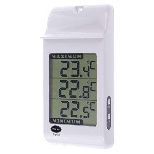 Brannan Thermomètre numérique à minimum et maximum pour serres, coloris:Blanc