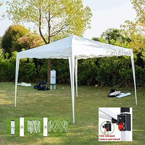 Gazebo 100% étanche Gazebo Pliant escamotable 3 x 3 m Tente de Jardin Tente de fête Tente de Club