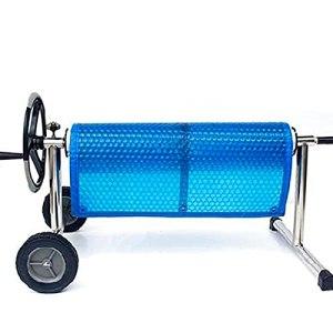 GDMING Couverture De Piscine Solaire, Piscine Bâche Doublure en PVC Garder Au Chaud Bulle Film De Couverture pour Piscines À Cadre Et Piscine Gonflable, 41 Tailles (Color : Blue, Size : 240x240cm)