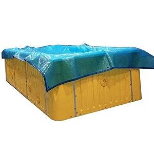 GDMING Couverture De Piscine Solaire, Piscine Bâche Doublure en PVC Protecteur pour Piscines À Cadre Et Piscine Gonflable Garder Au Chaud Film Bleu, 41 Tailles (Color : Blue, Size : 100x300cm)