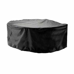 KUAIE Couverture de Meubles de Jardin Étanche, Coupe-Vent Nappe Circulaire Housse de Meubles de Patio, Noir, 25 Tailles, Personnalisable (Color : Noir, Size : 70x70cm)