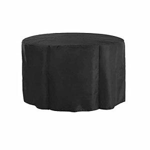 KUAIE Housse Étanche Couverture de Table Circulaire Anti-Rayures Résistance Au Déchirement Housse de Meubles de Patio pour Chaise, Sofa, Noir, Personnalisable (Color : Noir, Size : 200x90cm)