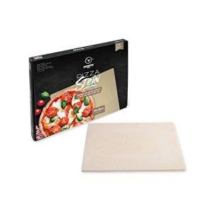 Moesta-BBQ 19217 Pierre à pizza rectangulaire 45 x 35 cm Cordiérite Pierre naturelle – pizza italienne du barbecue – Passe au four