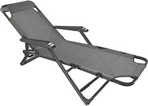 Mrxfn Fauteuil inclinable, canapé, chaise de sieste, chaise de bureau, dossier, balcon, double usage, grille noire et blanche