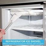 OSALADI 6Pcs Congélateur en Acier Inoxydable Pelle Dégivrage Glace Pelle Réfrigérateur Cuisine de Grattoir à Glace Glace Remover Pelle Réfrigérateur Outil De Nettoyage