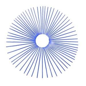 Sanfiyya Les Peaux de Rayons Couvrent la Garniture de tuyaux de Roue Universelle pour Moto 24cm 72pcs Bleu foncé