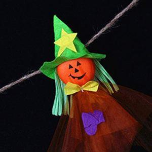 SENZHILINLIGHT Halloween Suspendu fantôme Manche à air Spook Mouche sorcière épouvantail poupée décoration de fête de Vacances pour la Maison Patio pelouse Jardin fantôme poupée