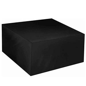 ZWYSL Housses de Meubles en Rotin Étanche À la Poussière pour Chaise, Table, Canapé Housse de Mobilier D'extérieur Couverture de Protection, Personnalisable (Color : Noir, Size : 120×120×75cm)