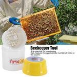 Arroa Shaker, Durable et Durable Rapide et Facile à Utiliser Varroa Check sans Fuite avec Couvercle hermétique pour l'apiculture