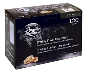 Bradley Smoker btok120Chêne bisquetten 120Pack