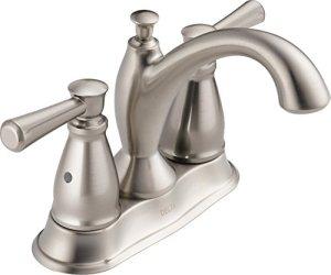 Delta robinet 2593-ssmpu-dst deux Poignée de salle de bain Centerset robinet, Inox,