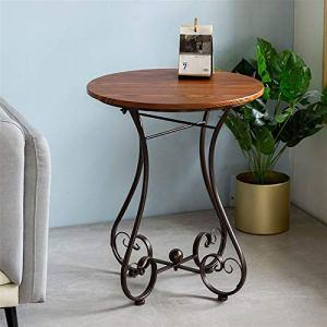 En fer forgé Petite table ronde Canapée Sofa Table de loisirs Balcon de loisirs Jardin extérieur Petite table ronde Diamètre 55cm (Couleur : C)
