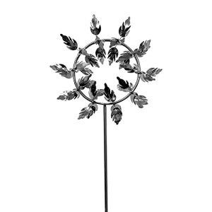 ERZU Moulin à vent magique en métal 3D, durable et en extérieur, avec piquet en métal, pour cour, patio, décoration de jardin