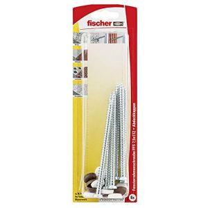 Fischer 92770 Lot de 6 Vis pour huisseries extérieures FFS 7,5 x 112 mm K