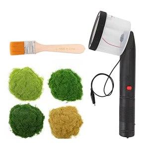 Funien Mini applicateur de Flocage d'herbe Statique avec poignée ABS avec 4 Couleurs de poudres pour Table de Sable de modélisation scénique Bricolage