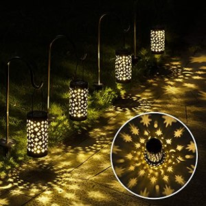 GigaLUMI Lot de 6 lampes solaires pour allée de jardin, jardin, jardin, terrasse, pelouse, jardin (lot de 6)
