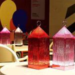 Kartell Lantern, Lampe de Table, Cristal, avec Variateur de Lumière