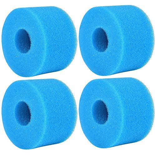 KATELUO 4 Pièces Éponge Filtrante Type S1, Cartouche de Filtre en Mousse, Mousse pour Filtre Piscine, Réutilisables et Lavables, Filtre en Mousse pour Spa, Piscine, Jacuzzi