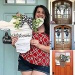 Kidnefn Welcome Sign Cow Head Door Hanger Animal Head Hanger for Front Door Wall Decor