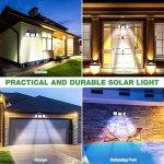Lampe Solaire Extérieur Détecteur de Mouvement, GolWof Lumière Solaire Extérieur 3 Têtes Lumière Murale Spot Mural Extérieur Étanche pour Garage Jardin Entrée Allée (2 pcs)