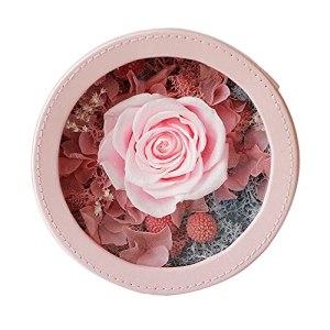 MAVL Cadeau Fete des Meres Naturelle Boite Roses eternelle petale de Rose eternels boîte for Les Amoureux, Cadeaux Femmes, Maman, Petite Amie (Couleur : Rose)