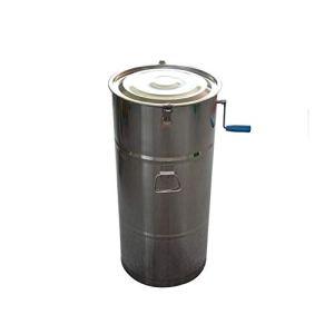 MINGMIN-DZ Durable 2-Cadre Manuel Miel en Acier Inoxydable Shaker, Couvercle en Carton ondulé sans Soudure, Miel Universel Sucre Seau centrifugeuse