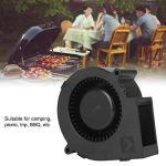 Nuobi Ventilateur de Barbecue, Ventilateur de Ventilateur électrique, roulement à Billes de Haute précision fiable pour Le Barbecue de Voyage de Pique-Nique de Camping