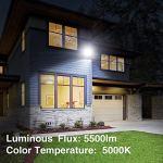 Onforu Projecteur LED Extérieur 50W, 5500LM Super Brillant Spot Led Extérieur, IP66 Etanche, 5000K Blanc Froid Éclairage de Sécurité Extérieur pour Terrains, Jardin, Terrace, Rechercher, Garage, Cour