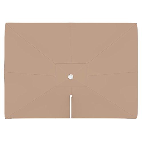 PARAMONDO Toile de rechange pour parasol avec Air Vent pour parasol à mât excentré Parapenda (4 x 3m / carrée), crème