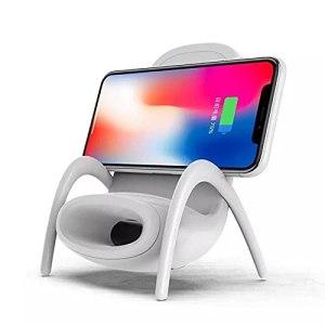 Rabuet Mini chaise portable sans fil pour tous les téléphones – Support de téléphone multifonction avec fonction haut-parleur musical