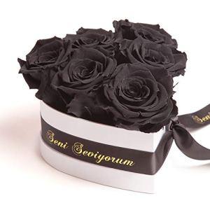 ROSEMARIE SCHULZ Heidelberg Séni Seviyorum Boîte à roses en forme de cœur pour femme Noir