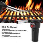 SALUTUY Ventilateur de Gril, Ventilateur de barbecueVentilateur de Barbecue portatif Compact alimenté par Batterie pour Le Camping de Pique-Nique en Plein air