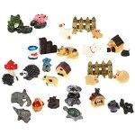 STOBOK Lot de 30 décorations miniatures pour jardin féérique – Maisons et figurines de jardin miniatures à faire soi-même – Maison de poupée – Plante en pot – Bonsaï – Terrarium