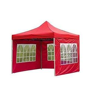 Tente d'extérieur en tissu Oxford 210D imperméable, résistante à la pluie, coupe-vent et protection solaire transparente, clôture 3 m (rouge)