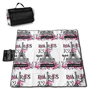 VimcustomPr Arrislife Tapis de pique-nique imperméable extra large avec envers imperméable pour extérieur Motif Tour Eiffel