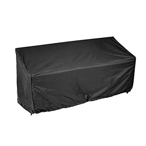 ZYZY Garden Bench Cover 2/3/4 Seater Waterproof Anti-UV Heavy Duty Bench Protective Cover Long Chair Cover Outdoor Patio Rattan Furniture Cover with Drawstring Cord and Storage Bag(4 Seat)