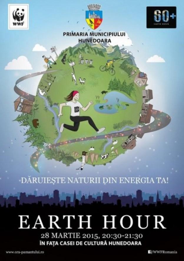 Afiș oficial WWF-Earth Hour 2015