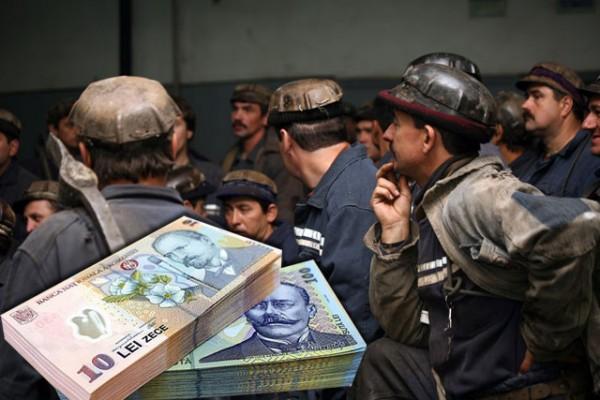 Disponibilizații din minerit primesc câte 31 de mii de lei