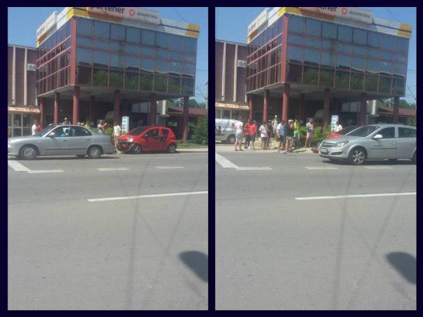 ULTIMA ORĂ. Accident în faţa benzinăriei Rompetrol din Petroşani