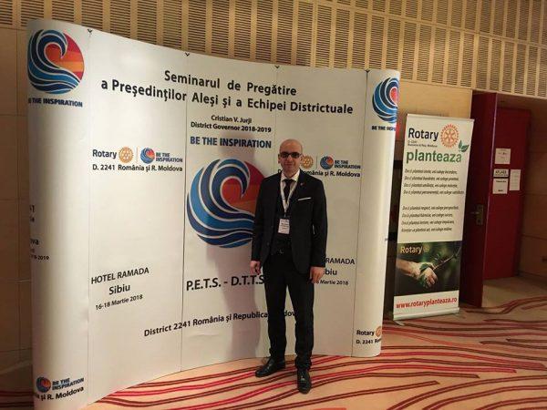 Cristian Merișanu preia, din iunie, președinția Clubului Rotary Valea Jiului