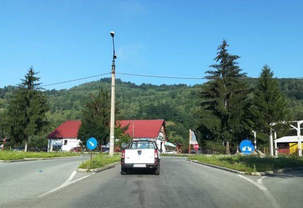 Sens giratoriu pe DN 66 la intersecția municipiului Petroșani cu orașul Petrila