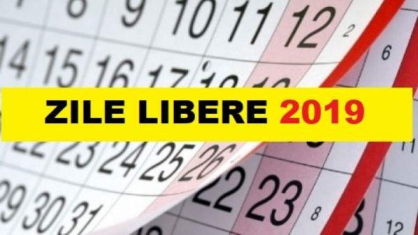 ZILE LIBERE 2019. Cumulat, anul viitor, români vor sta acasă două săptămâni