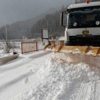 Aproape 90 de solicitări primite în week-end de Dispeceratul Drumurilor Județene din Hunedoara
