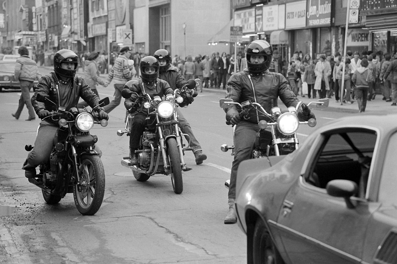 Friday roundup, #fbf, news, news stories, social media, Toronto, Yonge Street, 1981, motor cycles, Avard Woolaver