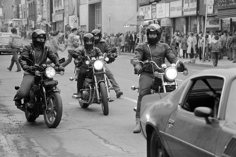 Friday roundup, #fbf, news, news stories, social media, Toronto, Yonge Street, 1981, motor cycles, Avard Woolaver