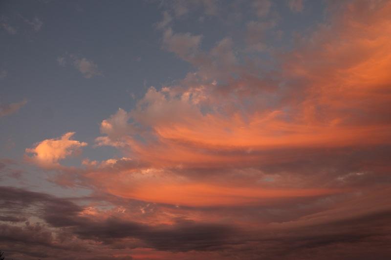 sky, clouds. Avard Woolaver,