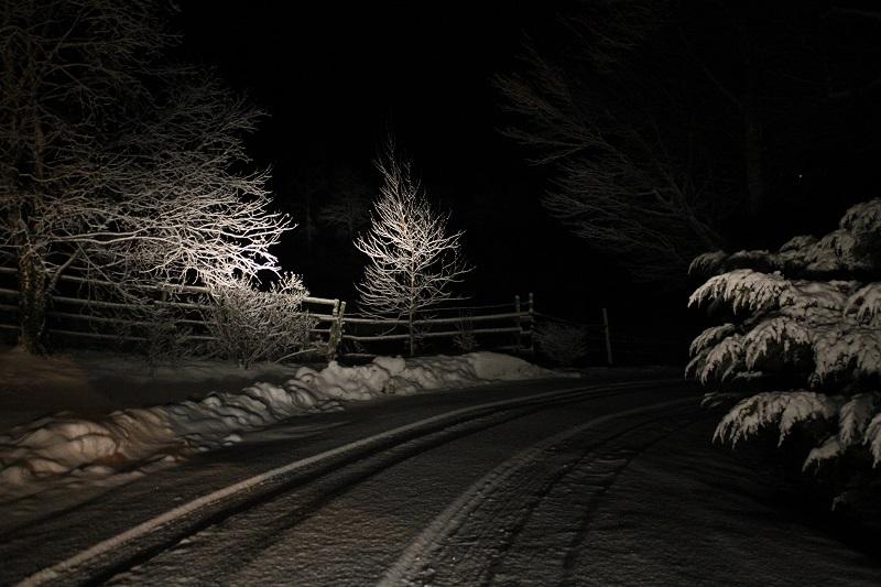 headlights, Avard Woolaver, snow, winter, Nova Scotia,