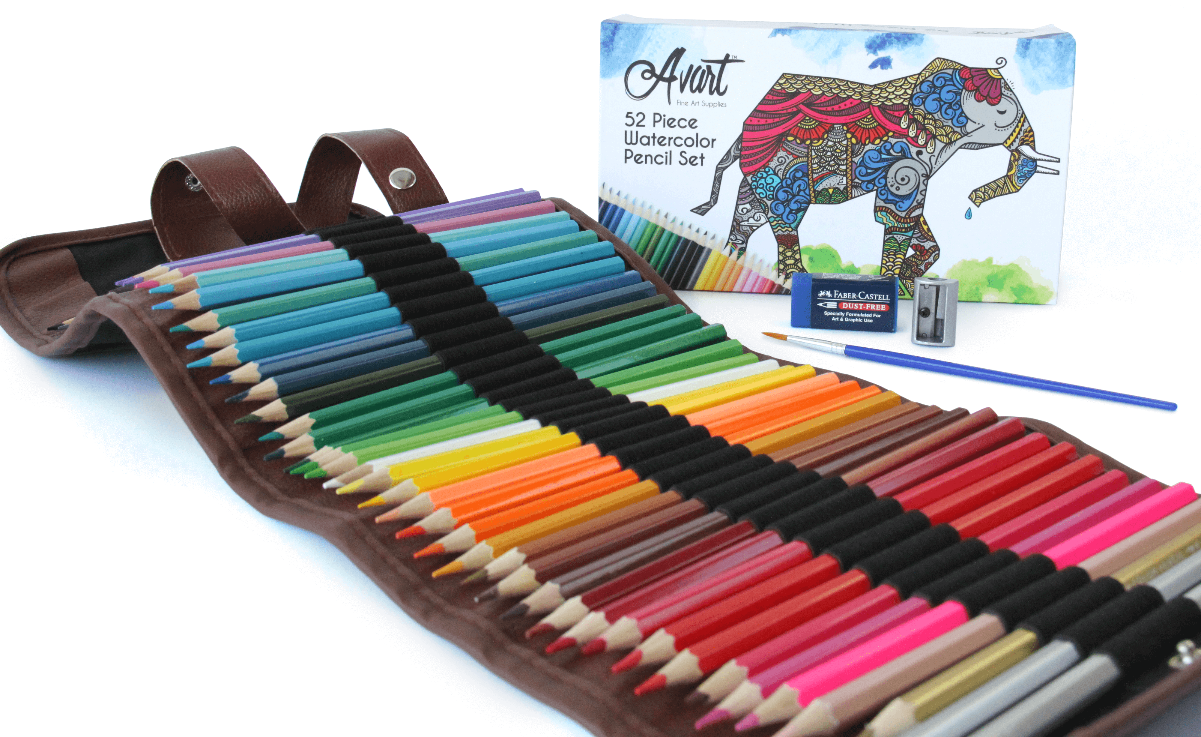 Avart 52 piece watercolor pencil set